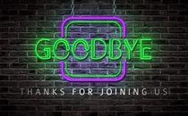 Neon Sign Goodbye