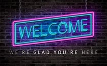 Neon Sign Welcome