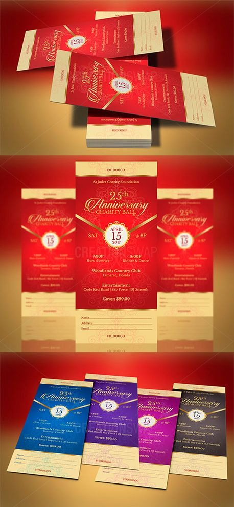 Red Gold Banquet Ticket (57758)