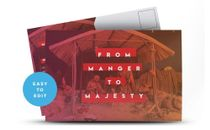 From Manger / Majesty Postcard