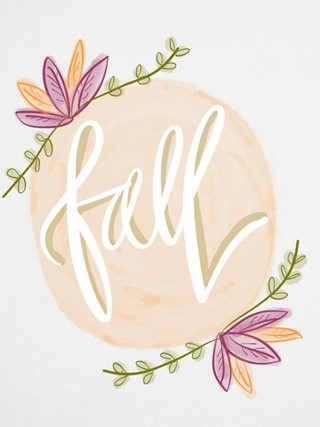 Fall Calligraphy Watercolor