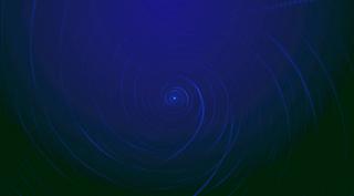 Blue Spiral Form Loop