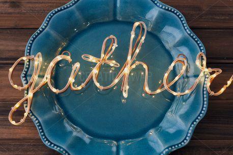 Gather light on Blue Plate (58664)