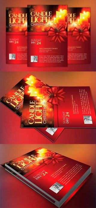Christmas Candle Light Flyer