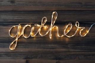 Gather light wood background