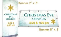 Christmas Banner Gold Star