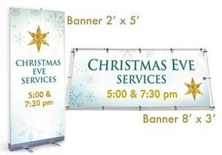 Christmas Banner Gold Star
