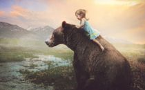 Child on a bear