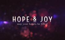 Blurry Christmas Hope & Joy