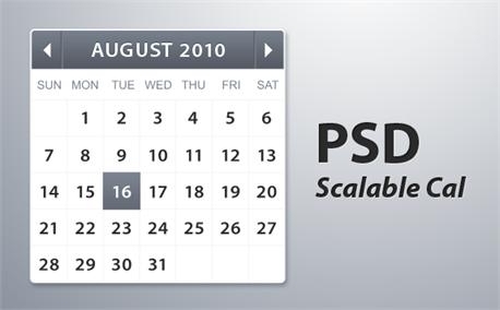 Scalable calendar (6438)