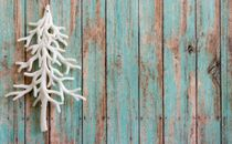 White Tree ornament on wood