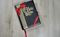 Bible with Christmas Bow