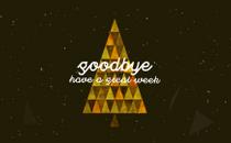Triangle Christmas Goodbye
