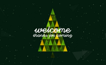 Triangle Christmas Welcome