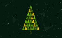 Triangle Christmas Loop 5