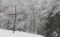 Twig Cross in snow