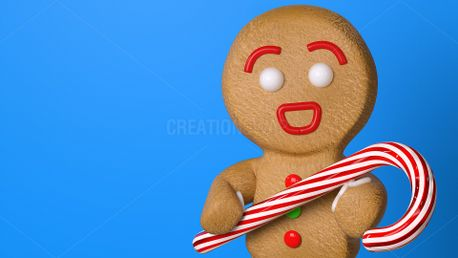 Gingerbread Candy Cane (61617)