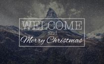 Christmas Welcome (Snow Loop)