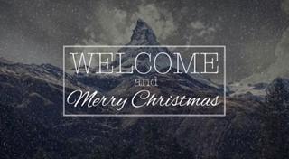 Christmas Welcome (Snow Loop)