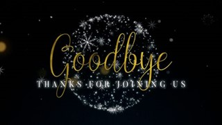 Golden Christmas Goodbye