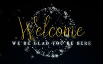 Golden Christmas Welcome