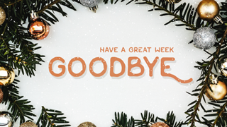 Designed Christmas Goodbye