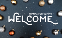 Designed Christmas Welcome