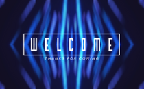 Blur Streaks Welcome