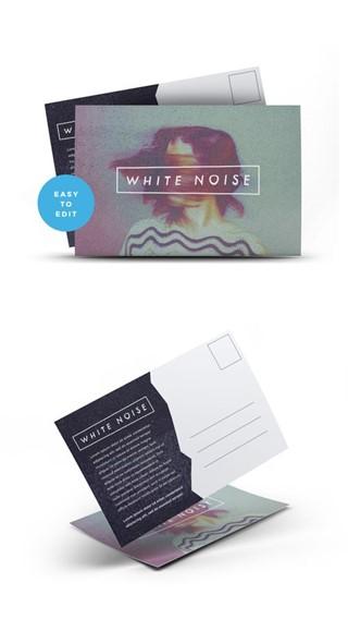 White Noise Postcard