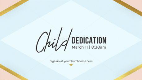 Child Dedication Slide Flyer 62850