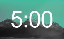 Mountains Countdown - Mint