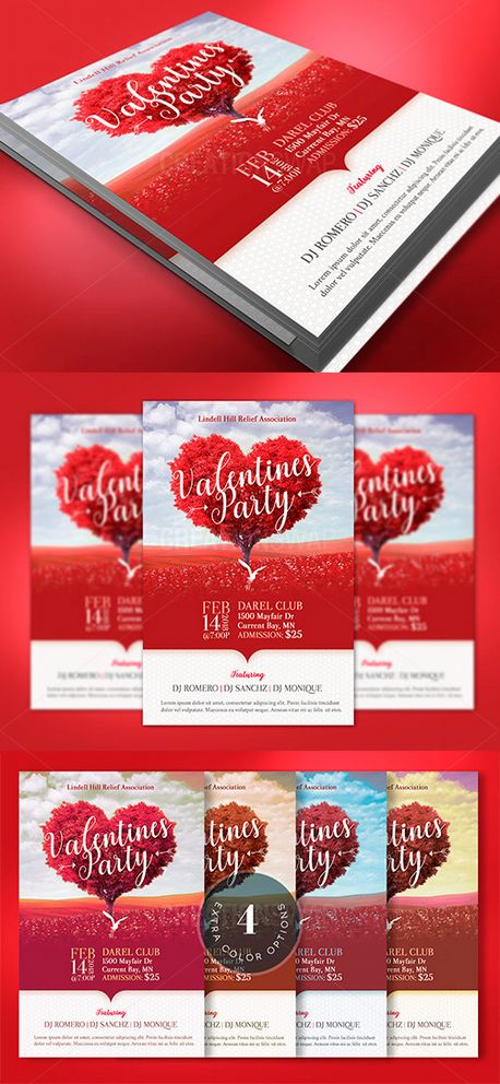 Heart Valentines Party Flyer (63229)