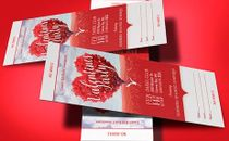 Heart Valentines Party Ticket