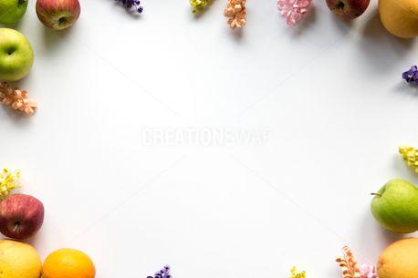 Apple Orange & Flower Frame (63448)