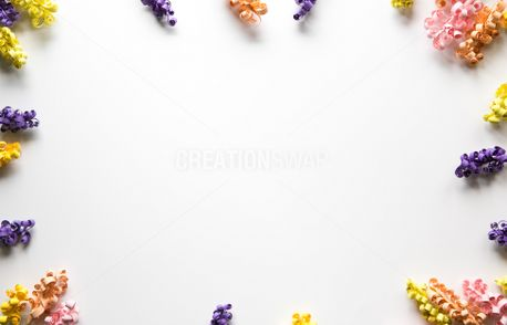 Colorful Paper Flower Frame (63450)