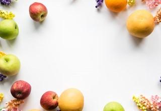 Colorful Fruit & Flower Frame
