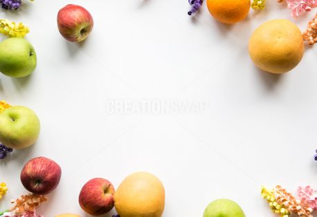 Colorful Fruit & Flower Frame (63453)