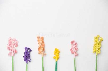 Colorful Paper Flowers Pattern (63457)