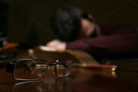 Man Tired after Reading (64087)
