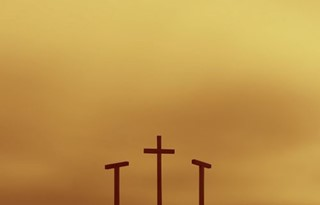 3 crosses at sunrise