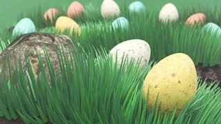 Easter Eggs in Meadow
