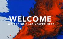 Paint Splatter Welcome