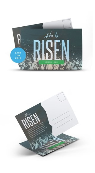 He Is Risen Postcard