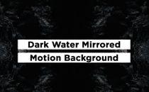 Dark Gray Waters Mirrored