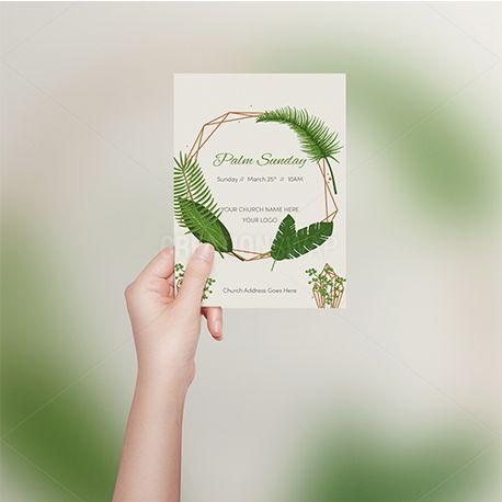 Palm Sunday Invite Flier (65185)