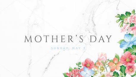 Floral Mother's Day slide (66054)