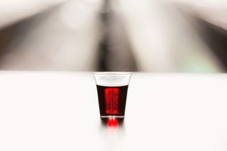 Communion Wine in Bright Light