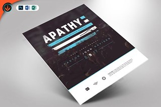 Apathy Flyer Template