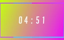 Gradient Frame Countdown Video