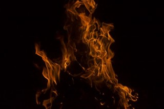 Fire Flames in the Dark